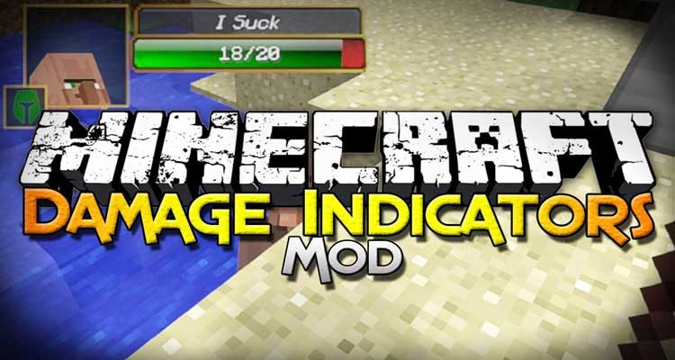 Damage Indicators Mod 1.12.2/1.7.10 (Health Bars for Mobs) For Minecraft