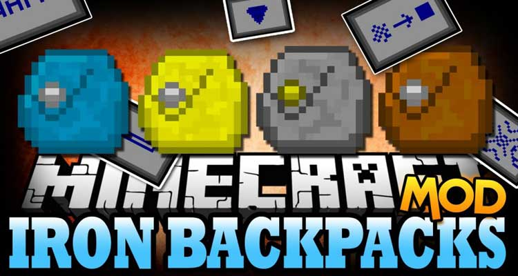 Iron Backpacks Mod 1.12.2/1.11.2 (Crazy Upgrades) For Minecraft