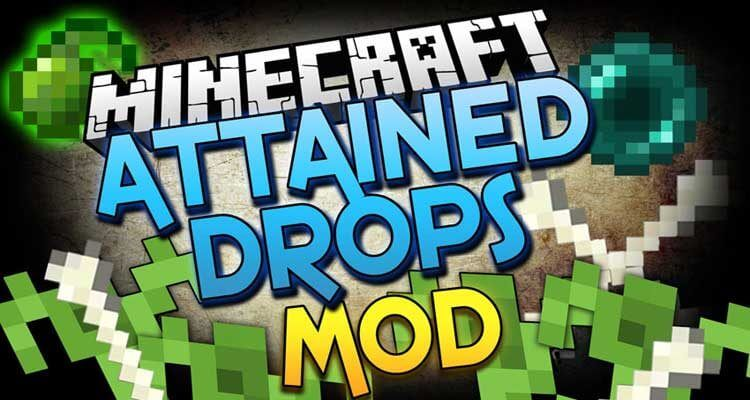 Attained Drops Mod 1.14.4/1.12.2 (Farming Mob Drops) For Minecraft