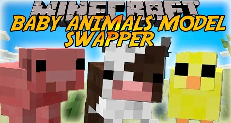 Baby Animals Model Swapper, Squickens Mod 1.14.4/1.12.2 For Minecraft