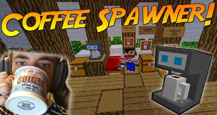 Coffee Spawner Mod 1.14.4/1.12.2 (Drinkable Coffee Every Morning) For Minecraft