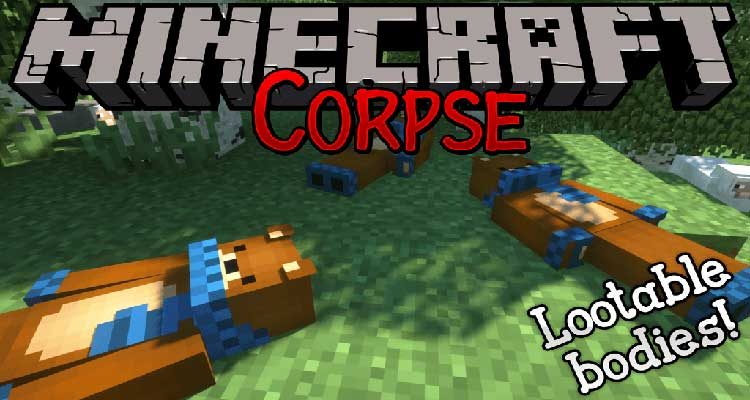 Corpse Mod 1.14.4/1.12.2 (Lootable Bodies!) For Minecraft