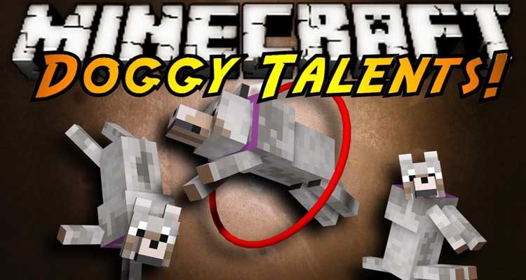 Doggy Talents Mod 1.14.4/1.12.2 (Pet Doggy Training) For Minecraft