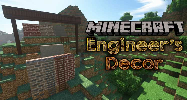 Engineer's Decor Mod 1.14.4/1.12.2 (Cosmetic Blocks for Engineer's Workshop) For Minecraft