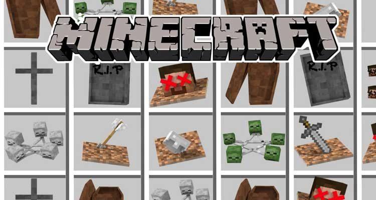 EuhDawson's GraveStone Mod 1.14.4/1.12.2 (Ritual, Tomb) For Minecraft
