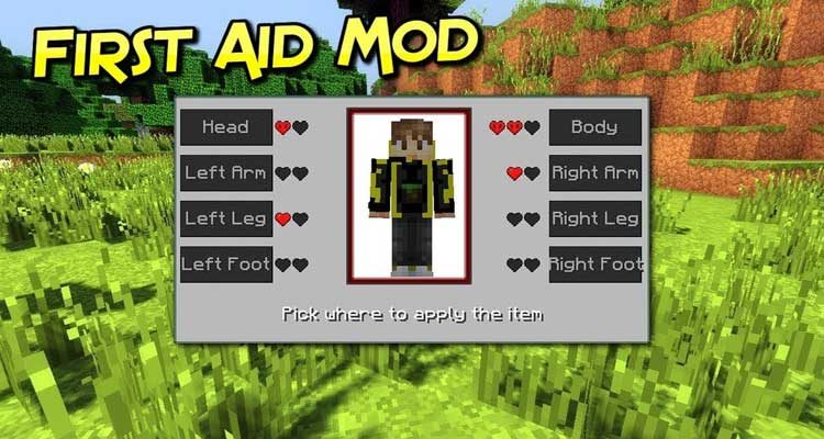 First Aid Mod 1.14.4/1.12.2 (New Health System Mechanics) For Minecraft