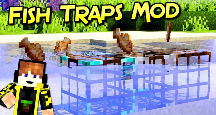 Fish Traps Mod 1.14.4/1.14.3 (Adds Tiered Auto Fishing Blocks) For Minecraft