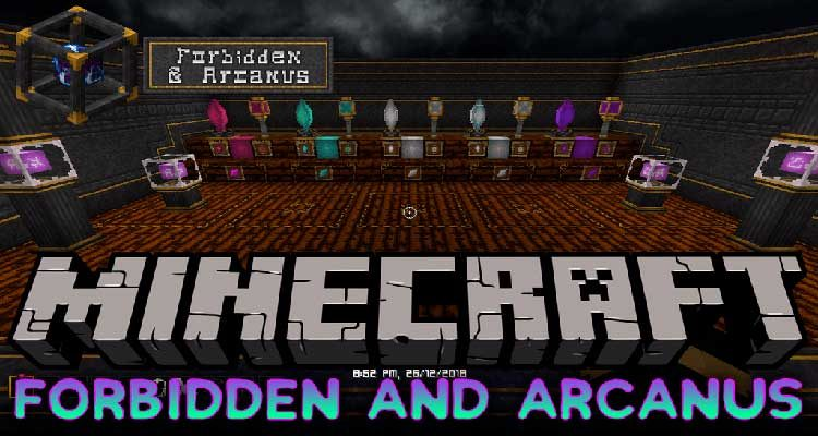 Forbidden and Arcanus Mod 1.14.4/1.12.2 (Adds Magic Themed Stuffs) For Minecraft
