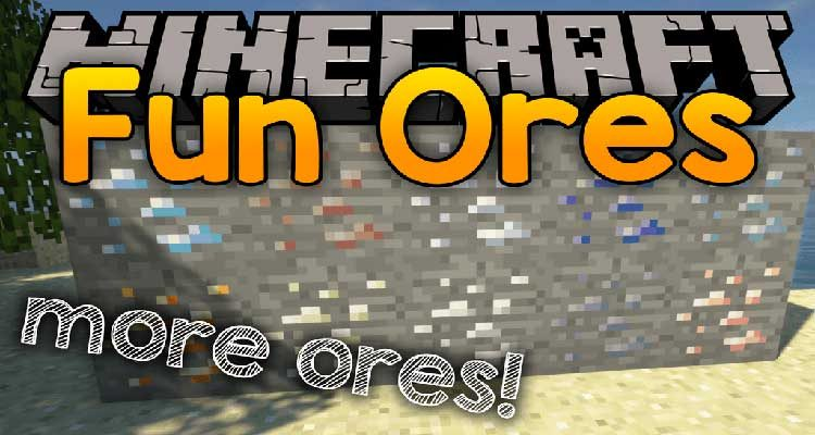 Fun Ores Mod 1.14.4/1.12.2 (Take Mining To The Next Level) For Minecraft