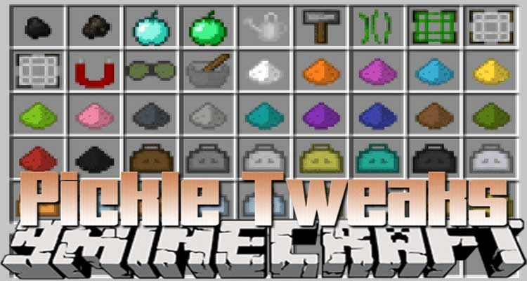 Pickle Tweaks Mod 1.14.4/1.12.2 (A Bunch of Random Stuff) For Minecraft