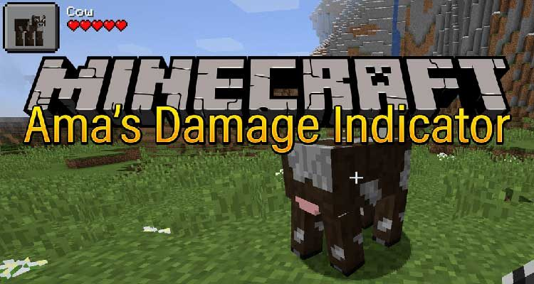Ama's Damage Indicator Mod 1.14.4/1.13.2 (Show the Damages Taken or Given) For Minecraft