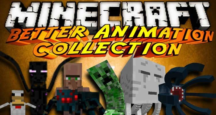 Better Animations Collection 2 Mod 1.14.4/1.12.2 (Change the In-Game Models)