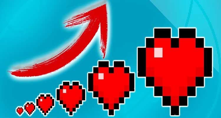 Level Up HP Mod 1.14.4/1.13.2 (RPG Style HP Upgrades) For Minecraft