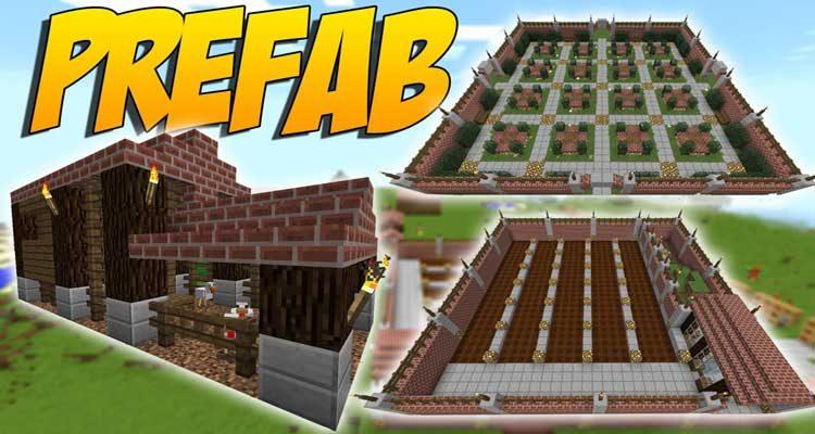 Prefab Mod 1.14.4/1.12.2 (Prefabricated Building)