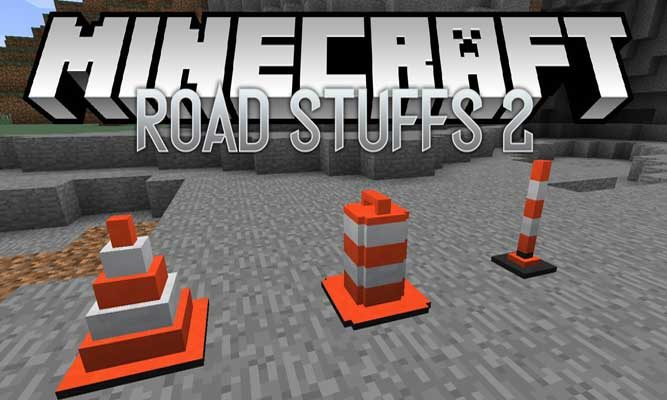 Road Stuff 2 Mod 1.14.4/1.7.10 (Everything You Need for Your Road Dreams) For Minecraft