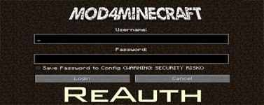 ReAuth Mod 1.15.2/1.14.4/1.12.2