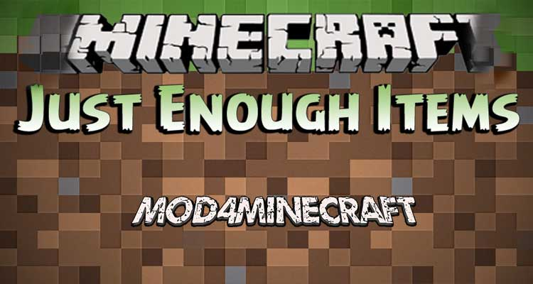 Just Enough Items (JEI) Mod 1.15.2/1.14.4/1.12.2