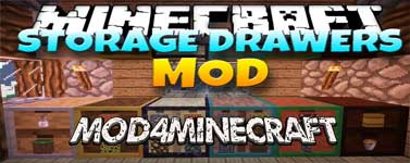 Storage Drawers Mod 1.15.2/1.14.4/1.12.2