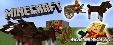 AstikorCarts [Horse Carts] Mod 1.15.2/1.14.4/1.12.2