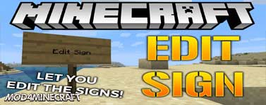 Edit Sign Mod 1.16.2/1.15.2/1.14.4