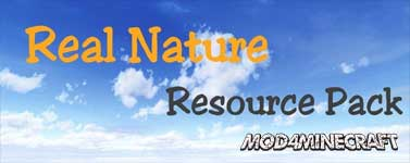 Real Nature Resource Pack 1.11.2/1.10.2/1.9.4