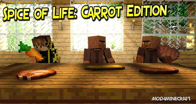 Spice of Life: Carrot Edition Mod 1.15.2/1.14.4/1.12.2