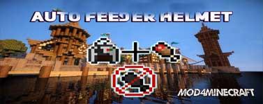 Auto Feeder Helmet [FORGE] Mod 1.16.2/1.15.2/1.14.4