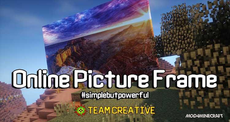 OnlinePictureFrame Mod 1.12.2/1.11.2/1.10.2
