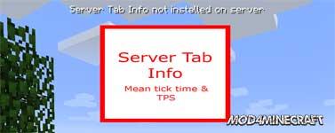 Server Tab Info Mod 1.16.3/1.15.2/1.12.2