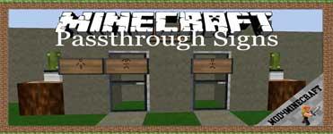 Passthrough Signs Mod 1.16.4/1.12.2/1.7.10