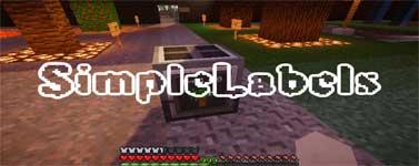 SimpleLabels Mod 1.10.2/1.9.4/1.7.10