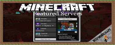 Featured Servers Mod 1.15.2/1.14.4/1.12.2
