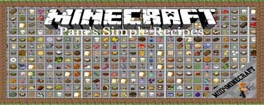 Pam's Simple Recipes Mod 1.12.2/1.10.2/1.7.10