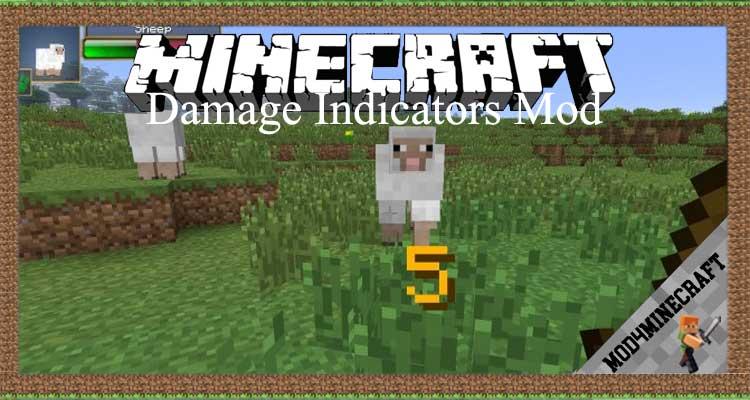Damage Indicators Mod 1.12.2/1.7.10 For Minecraft