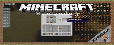 MineTweaker3 Mod 1.8.9/1.7.10