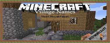 Village Names Mod 1.12.2/1.10.2/1.7.10