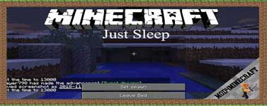 Just Sleep Mod 1.14.4/1.12.2