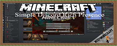 Simple Discord Rich Presence Mod 1.16.5/1.15.2/1.14.4
