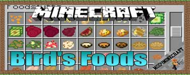 Bird's Foods Mod 1.12.2/1.10.2/1.7.10